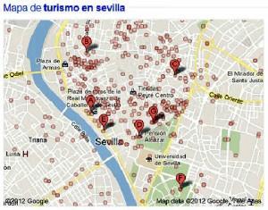 Mapa de Sevilla-Turismo en Sevilla