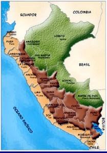 Mapa geográfico de Perú