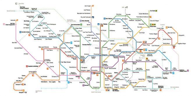 Mapa Metro De Barcelona Actualizado.Mapa Metro Barcelona Actualizado Para Viajar Para Unas