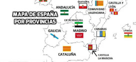 Mapa de España con todas las provincias y comunidades autónomas