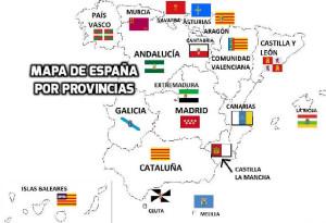 Mapa de España por provincias