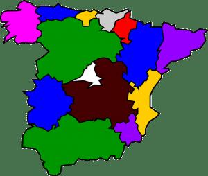 Map regions of Spain