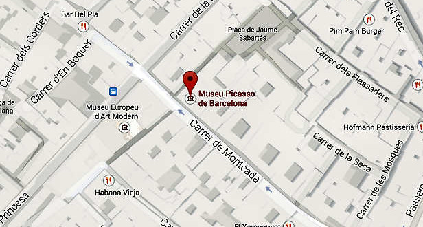 Museo Picasso Direccion con Mapa