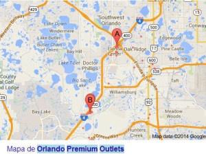 Mapa de Orlando Premium Outlets
