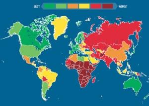Los Países más peligrosos para los turistas