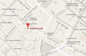 Sgrada Familia Mapa con Direccion